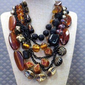 Treska leopard statement necklace new